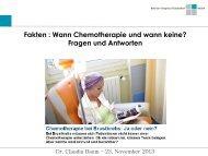 Wann Chemotherapie und wann keine? Fragen und Antworten - Zebra