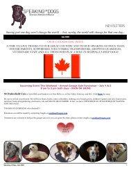 SPEAKING OF DOGS JULY 2009 NEWSLETTER