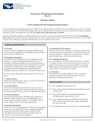 NIH Form 829 Parts 1 and 2 - NIH Division of International Services