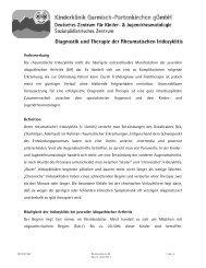 Diagnostik und Therapie der Rheumatischen Iridozyklitis