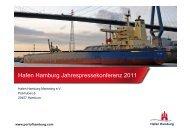 Hafen Hamburg Jahrespressekonferenz 2011
