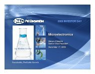 Microelectronics - Pall Corporation (PLL)