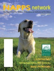 Summer 2007 - National Association of Professional Pet Sitters