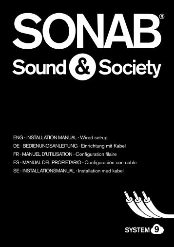 ENG - iNstallatioN maNual - Wired set-up DE ... - Sonab Audio