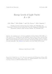 Energy Levels of Light Nuclei A = 18 - Triangle Universities Nuclear ...