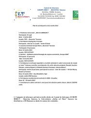 Planul de activitate pentru luna martie 2013... - GEC Bucovina