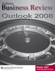 Indiana Business Review: Outlook 2008