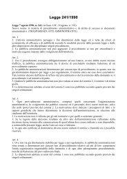 Legge 241/1990 - Cooperazione Italiana allo Sviluppo