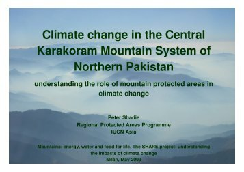 Climate Change Impacts in the Central Karakorum ... - Ev-K2-CNR