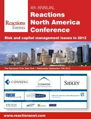 Reactions North America Conference
