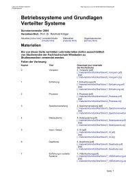 Betriebssysteme und Grundlagen Verteilter Systeme - Labor für ...
