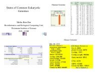 States of Common Eukaryotic Genomes - Bioinformatics and ...
