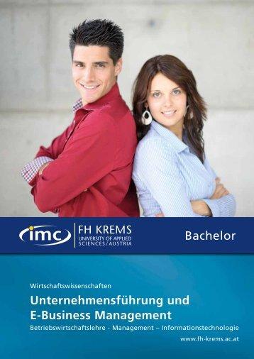Bachelor unternehmensführung und e-Business Management - IMC ...