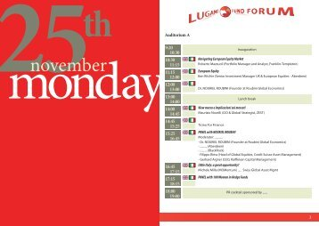 november - Lugano Fund Forum