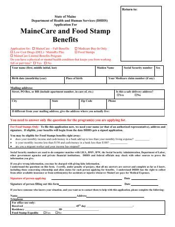 Where can you apply for food stamp benefits?