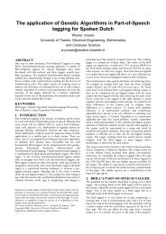 The application of Genetic Algorithms in Part-of-Speech tagging for ...