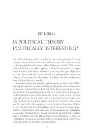 is political theory politically interesting? - Redescriptions