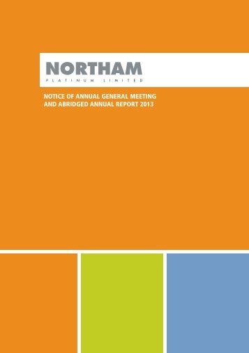 open - Northam platinum limited Annual report 2012