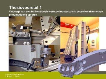 Proposals of Patrick Guillaume - Vrije Universiteit Brussel