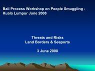 Kuala Lumpur June 2008 - Bali Process