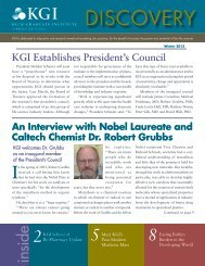 Discovery Newsletter Winter 2013 - Keck Graduate Institute