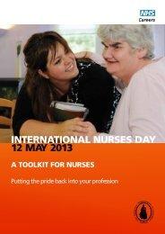 INTERNATIONAL NURSES DAY 12 MAY 2013 - NHS Careers