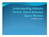 Intimate Partner Abuse in Queer Women's Relationships