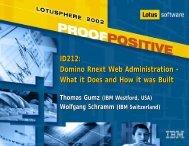 ID212: Domino Rnext Web Administration - What it ... - Lotus Sandbox