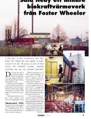 Sala Heby ett mindre biokraftvärmeverk från Foster Wheeler - Novator