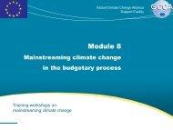 Module 8 - Global Climate Change Alliance