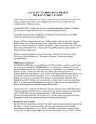 çatalhöyük araştırma projesi 2009 kazı sezonu raporu