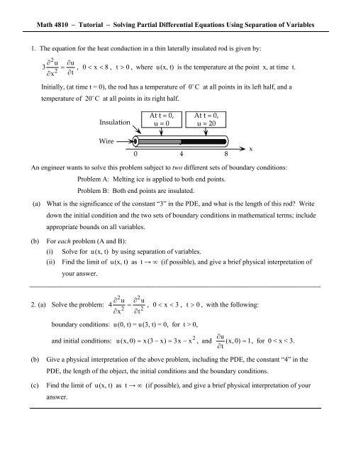 Solving Partial Differential Equations Using Separation of Variables