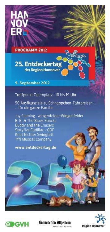 25. Entdeckertag - Entdeckertag der Region Hannover