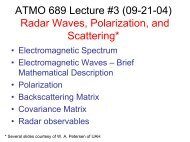 ATMO 689 Lecture #3 (09-21-04) Radar Waves, Polarization, and ...