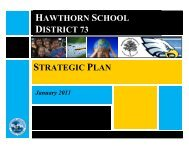 HAWTHORN SCHOOL DISTRICT 73 STRATEGIC PLAN