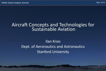 Aircraft Concepts and Technologies for Sustainable Aviation