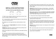OZILOCK Instructions and Fitting Templates