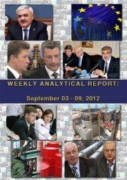 Weekly analytical report: September 3 - 9, 2012 - Українська ...