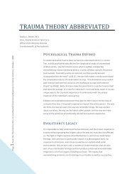 Bloom, Trauma Theory Abbreviated