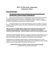 2012-13 Polk County Ambassador Form