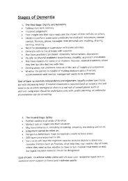The stages of dementia (Dr Jane Tolman, October 2011) - Tasmania ...