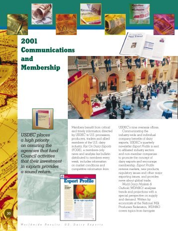 2001 Communications and Membership - US Dairy Export Council