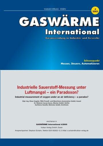 Industrielle Sauerstoff-Messung unter Luftmangel - ein ... - METROTEC