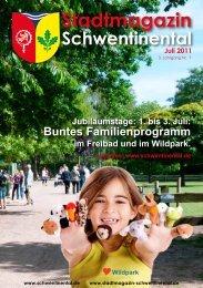 1. bis 3. Juli: Buntes Familienprogramm im Freibad und im Wildpark.