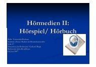Hörmedien II: Hörspiel/ Hörbuch