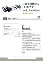 +d'Infos - centre ressources information jeunesse rhone-alpes
