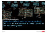 Integrated and autonomous energy systems Solutions for a ...