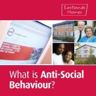 What is Anti-Social Behaviour? - Eastlands Homes