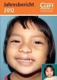 Jahresbericht 2012 - Deutsche Cleft Kinderhilfe eV