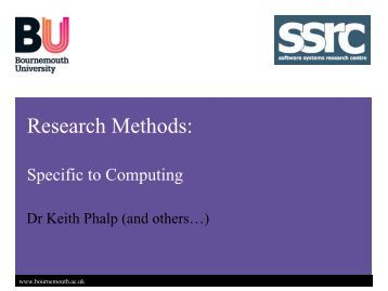 Characteristic of research methodology